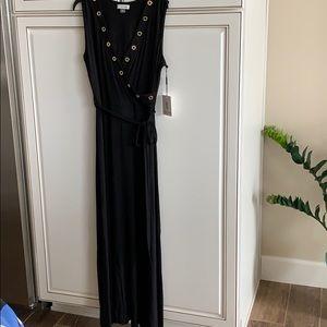 NWT Calvin Klein sleeveless black maxi dress